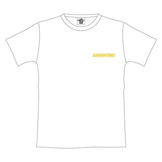 GENERATIONS PERFECT LIVE ロゴTシャツ WHITE